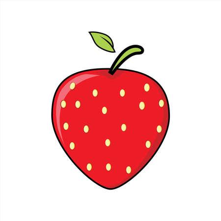Illustration graphic vector of fruit - strawberry. vector illustration.