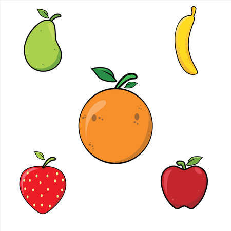 Illustration graphic vector of Fruits set, fruit vector
