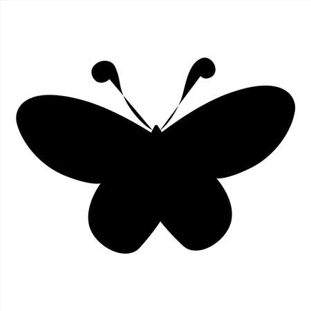 Butterfly vector icon, design element  template