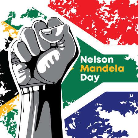 Nelson mandela day, international Nelson Mandela day 18 july, vector illustration. Vector Illustration