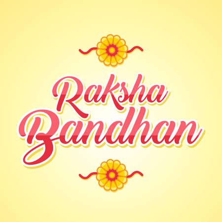 Illustration graphic vector of Rakhsa Bandhan, happy rakhsa bandhan, vector illustration.
