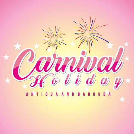 Carnival Holiday antigua and Barbuda, Vector illustration. 矢量图像
