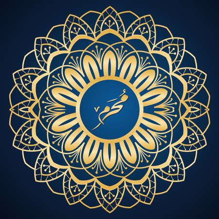 442 Hijri Islamic new year, Happy Muharram Luxury. Vector Illustration. 免版税图像 - 153781305