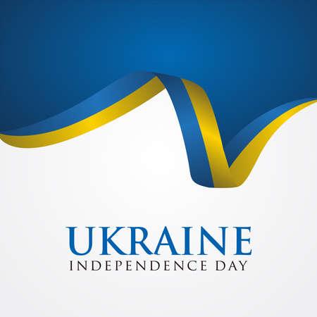 Ukraine Independence Day, Independence day of Ukraine 24 August, Vector illustration. 免版税图像 - 154138815