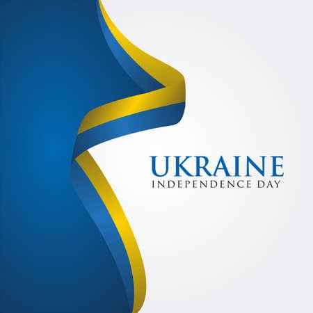 Ukraine Independence Day, Independence day of Ukraine 24 August, Vector illustration. 矢量图像