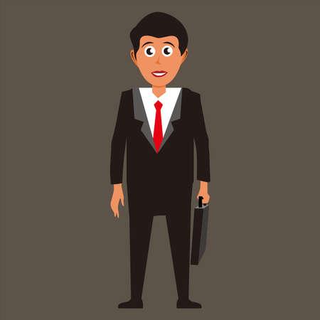 Businessman holding briefcase vector illustration 免版税图像 - 158927793