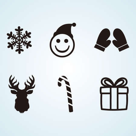 Illustration graphic vector of Winter Icon set, Winter icons collection 免版税图像 - 158964166