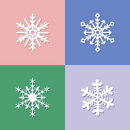 Snowflake flat icons, Snow Flake icon Template vector symbol design 矢量图像