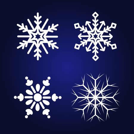 Snowflakes vector set for Christmas design. 免版税图像 - 159446092