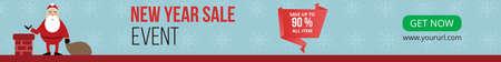 New Year sale event design. Christmas banner, Horizontal christmas poster, greeting cards, headers, website, etc 免版税图像 - 159611737