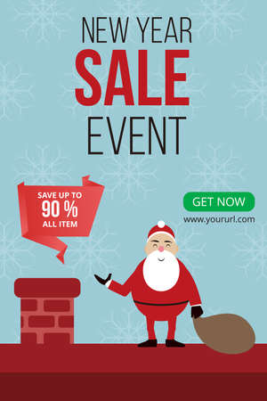 New Year Sale Design, christmas poster, greeting cards, headers, website, etc