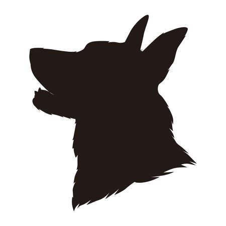 Silhouette of Sheperd dog, vector illustration 矢量图像