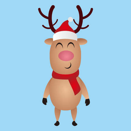 Illustration graphic vector of Cute Deer vector, Deer for invitation, birthday, greeting, party, Merry Christmas motive, t-shirt design, winter holidays. Happy holidays card, vector illustration.