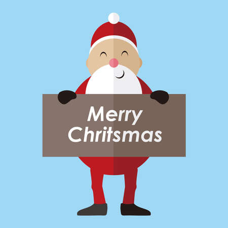 Illustration graphic vector of Santa claus with merry christmas text, vector illustration, santa claus design