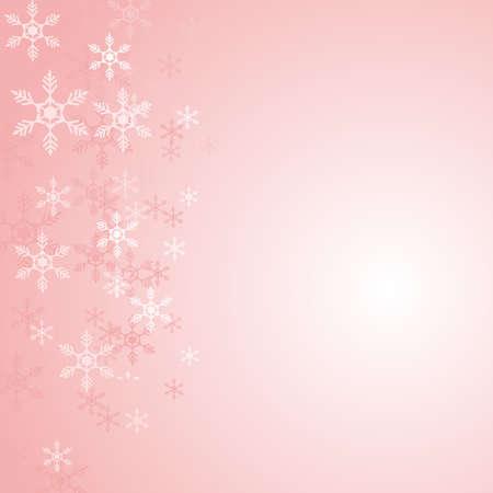Christmas snowflakes on pink 矢量图像