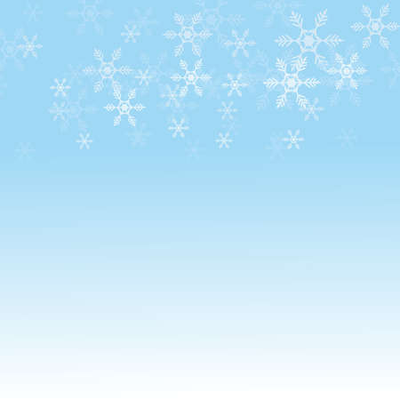 Merry Christmas background, Christmas snow light blue background texture for the holidays, vector illustration. 免版税图像 - 159825501