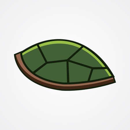 tortoise shell vector, turtle shell. vector illustration.
