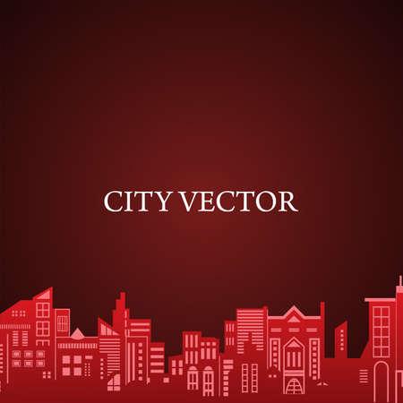 City Vector illustration, City background vector illustration.