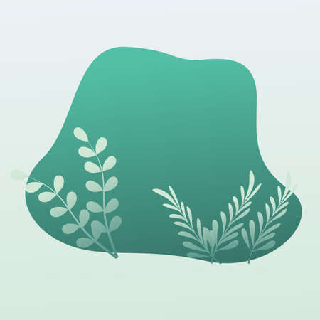 Vector Tropical background with Green leaves.