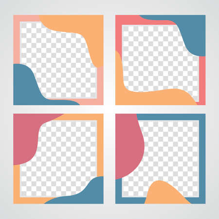 Editable template post for social media ad. web banner ads for promotion design. modern social media post feed vector design. 矢量图像