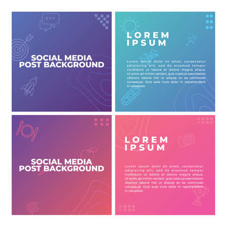 Set of editable modern square background template, Perfect for social media post , background and web internet ads. Creative vector social media post template collection.