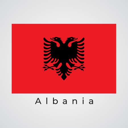 Illustration graphic vector of Albania flag, Albania flag vector, vector illustration