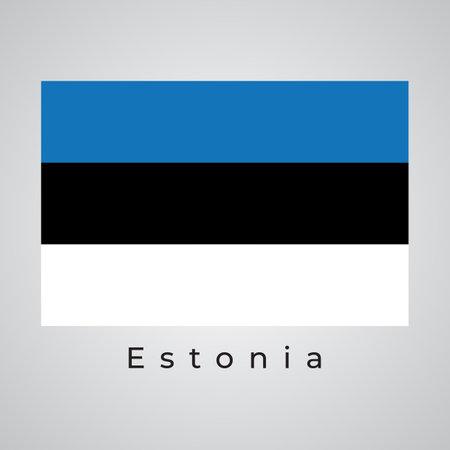 Illustration Graphic Vector of ESTONIA flag, Estonia flag vector, vector illustration.