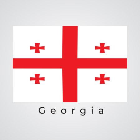 Illustration Graphic Vector of GEORGIA FLAG, Georgia flag vector 矢量图像