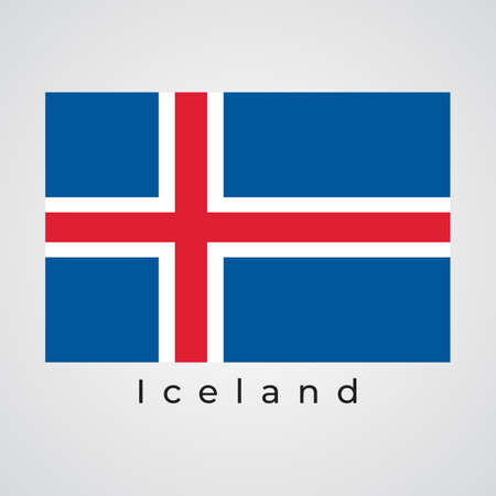 Illustration graphic vector of Iceland flag, Iceland flag vector