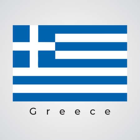 Illustration graphic vector of Greece flag, Greece flag vector 矢量图像