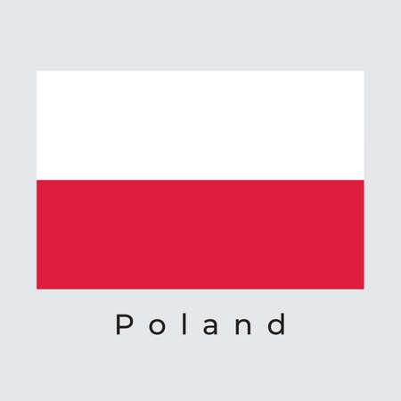 Illustration graphic vector of Poland Flag, poland flag vector 矢量图像
