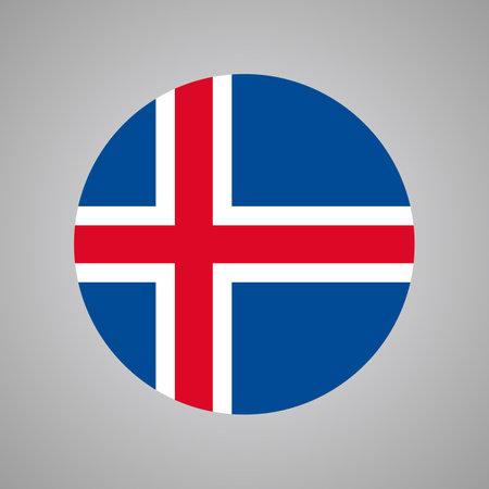 Flag Of Iceland, Vector of Iceland flag 矢量图像