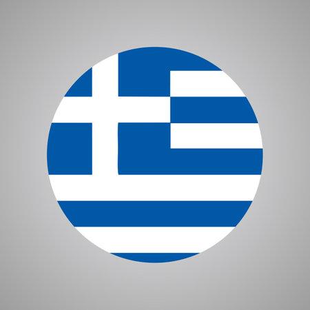 Vector of Grecee flag, Grecee flag vector illustration.