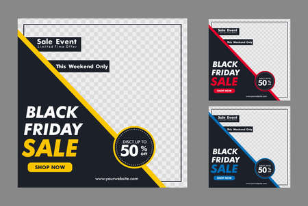 Creative vector of Black friday sale banner, Perfect for social media post, background and web internet ads.