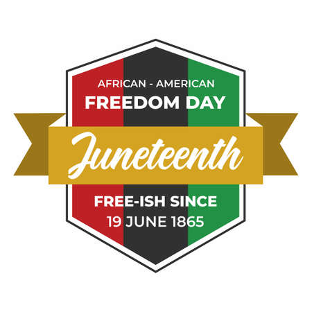 Juneteenth Day, celebration freedom, emancipation day in 19 june, African-American history and heritage.