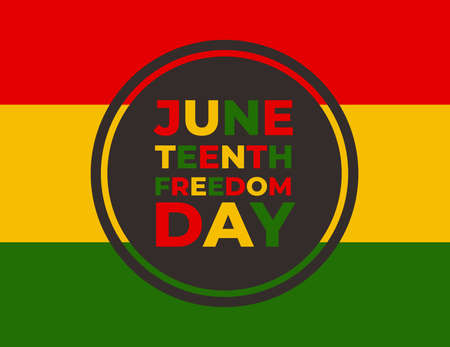Vector banner for Juneteenth day, Freedom day