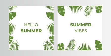 Creative vector of template for summer, Hello summer,  Perfect for social media post, background and web internet ads.