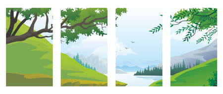 Summer Background, Summer vector, Vector Illustration, Perfect for social media post, background and web internet ads.