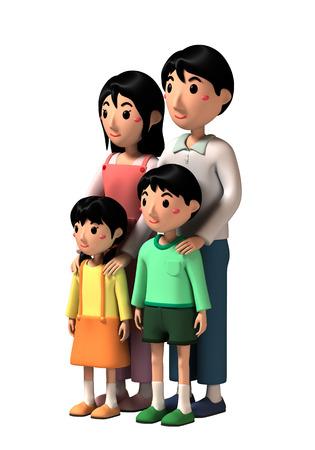 3dcg: Family Stock Photo