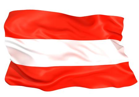 Austria flag Standard-Bild - 107018594