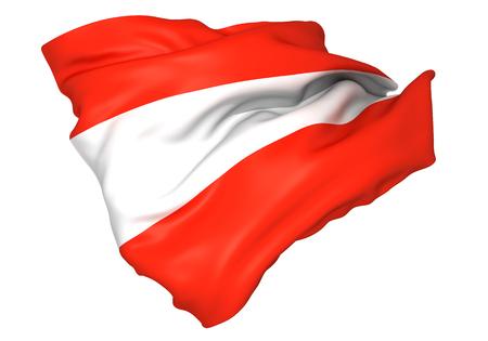 Austria flag Standard-Bild - 107237913