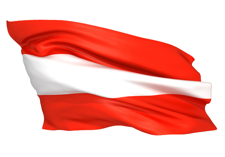 Austria flag Standard-Bild - 107129615