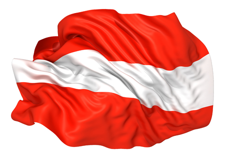Austria flag Standard-Bild - 107129629