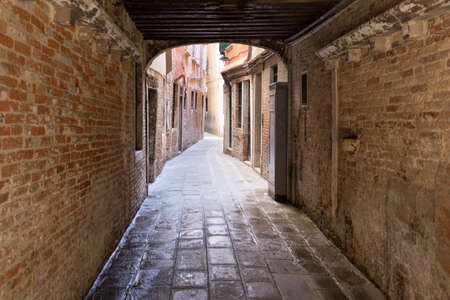 alley: Old venetian alley Stock Photo