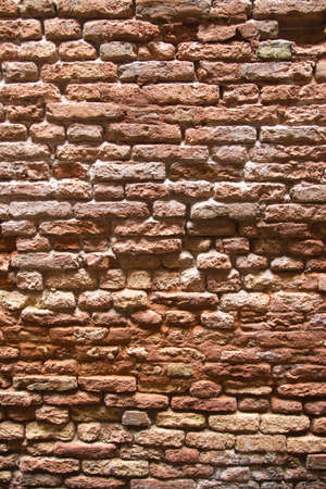red wall: Grunge red brick wall Stock Photo