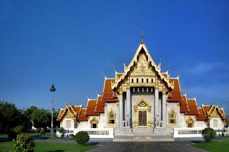 Wat Benchamabophit (Buddhist Temple) in Bangkok, Thailand