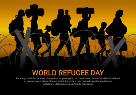 World Refugee Day, this poster design is to commemorate world refugees so that war will be peaceful soon