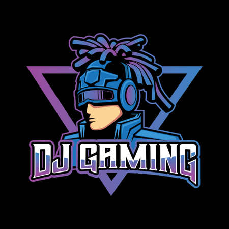 Rasta DJ is a mascot logo design for gamer on a computer or smartphone, this logo represents energetic, dynamic and agile.