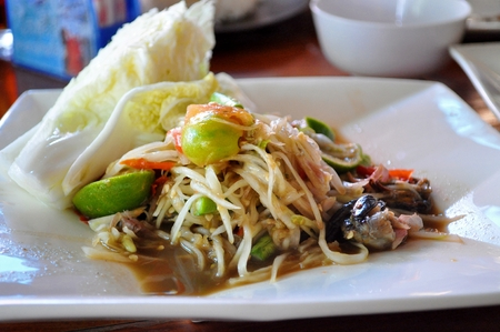 tam: Thai food - Spicy papaya salad, Som tam