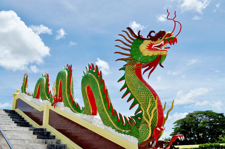 banisters: Dragon on banisters in Buddhist temple